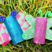 Spring Butterfly Craft For Kids: Toilet Paper Roll Crafts