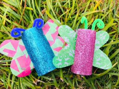 Spring Butterfly Craft For Kids, spring craft, easter craft, toilet paper roll crafts