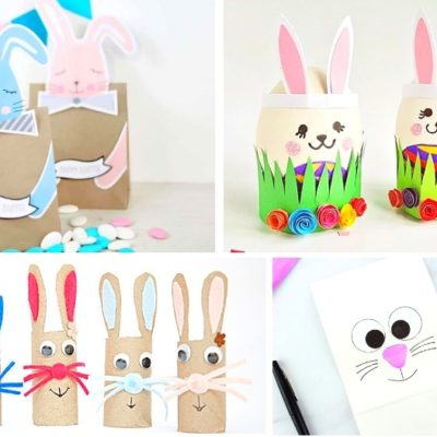 20 Easy & Adorable Easter Bunny Crafts For Kids Of All Ages