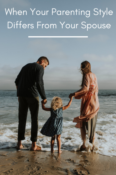 How to handle when your spouse's parenting style differs from your own. Tips on finding mutual ground and being a united front for your children. #Marriage #Parenting #Kids #ParentingTips