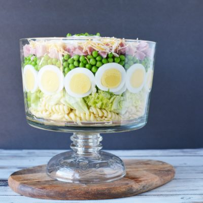 Grandma's 7 Layer Salad: With Chopped Ham and Peas
