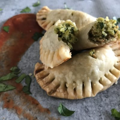 Italian Hand Pies With Brasciole Filling & Marinara For Dipping