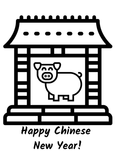 Free Kids Chinese New Year Coloring Page, Free Chinese New Year Coloring, Printable Chinese New Year Coloring Page