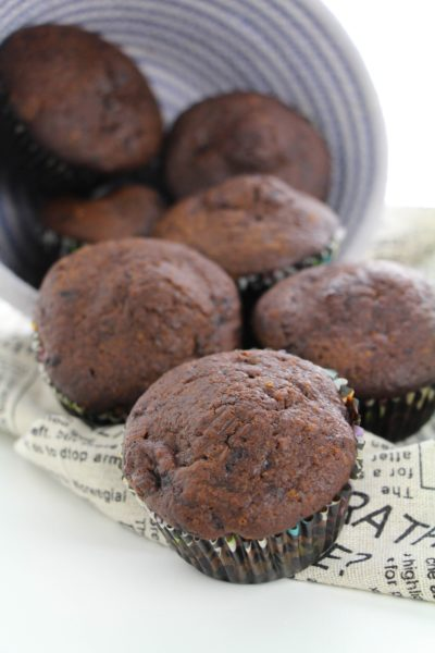 Protein muffins, chocolate protein muffins, muffins, protein breakfast, easy chocolate protein muffins