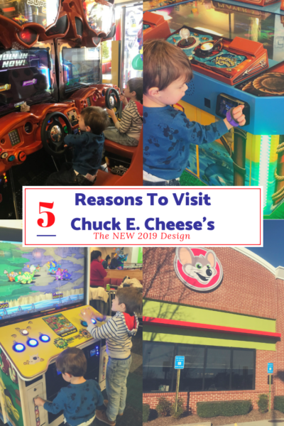 #AD Check out the newly renovated Chuck E. Cheese's features! They offer fresh food, clean design and updates that the whole family can enjoy. #ChuckECheeses