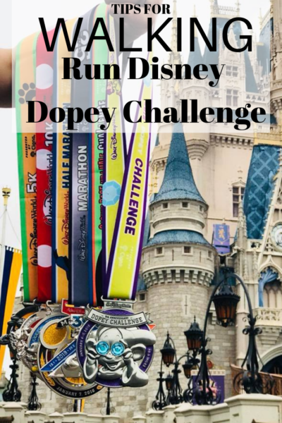 How to successfully walk the #RunDisney Dopey Challenge! If you're injured, couldn't train or sign up last minute, you NEED to read this. #DopeyChallenge #RunDisneyTips #DisneyWorld #Runnning #RunningMotivation #RunningTips