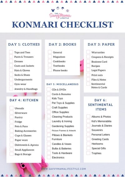 Marie Kondo Organization Tips, Marie Kondo Checklist, How To Clean Like Marie Kondo