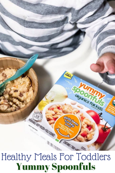 #AD Yummy Spoonfuls are organic healthy meals for toddlers that are conveniently located in the frozen food section of Walmart. #IC #YummySpoonfuls #YummyAtWalmart