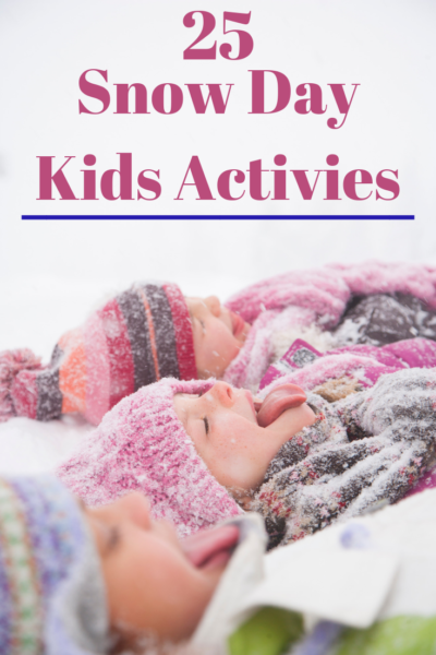 The BEST snow day kids activities to help them stay entertained when school isn't in session! #Winter #SnowDay #WinterCrafts