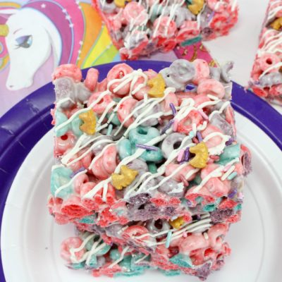Unicorn Rice Krispies Treat Dessert: Fun For A Kid's Party