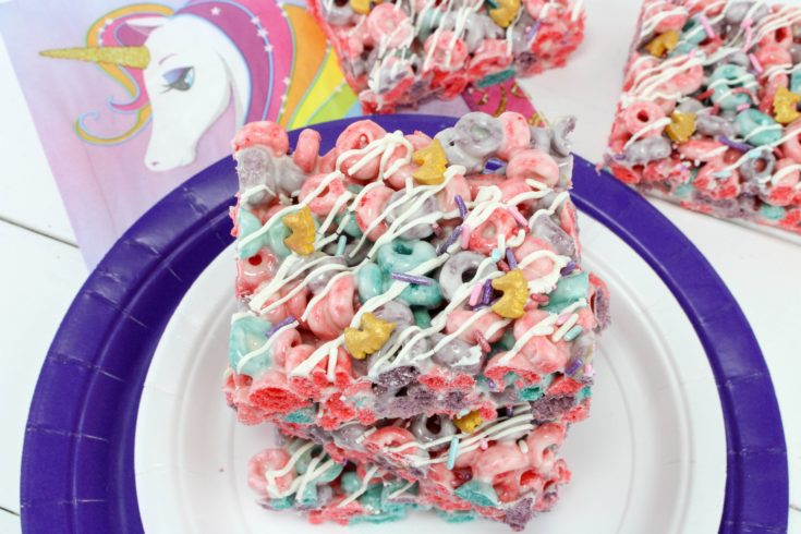Unicorn Rice Krispies Treat Dessert