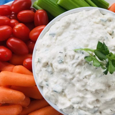 Vegetable Dip Recipe: An Easy & Beautiful Party Appetizer