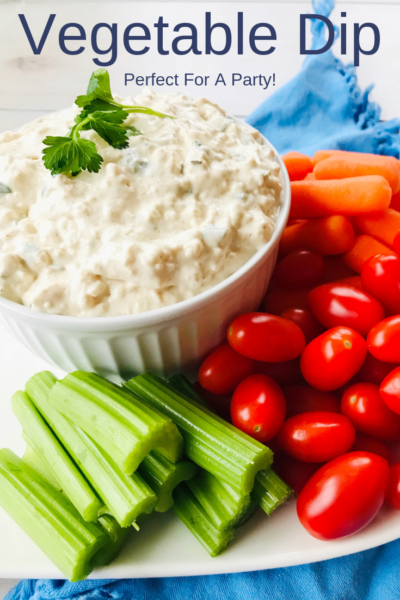 Vegetable Dip Recipe: This is an easy make-ahead party appetizer. It's a one-bowl recipe that everyone can't resist. Perfect for summer entertaining, a BBQ or tailgating. #PartyFood #Appetizer #Keto #LowCarb #Dip #Appetizer #DipRecipe
