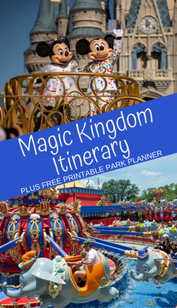 Magic Kingdom Itinerary: Don't get overwhelmed by the options! Here are the must-do Magic Kingdom attractions to help you plan an entire park day. Plus, print a FREE Magic Kingdom park planner. #MagicKingdom #Disney #DisneyWorld #DisneyWorldTips #Disney #DisneyPlanning #FamilyTravel #FamilyVacations #DisneyPlanning #WDW