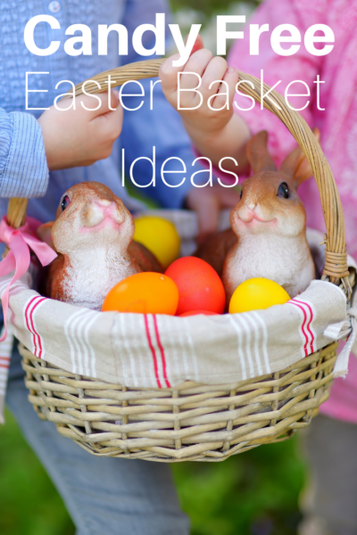 Candy Free Easter Basket Ideas: Fill your kids Easter basket with these fun and creative candy-free ideas! #Easter #EasterBasket #Spring #Kids #KidsEasterIdeas