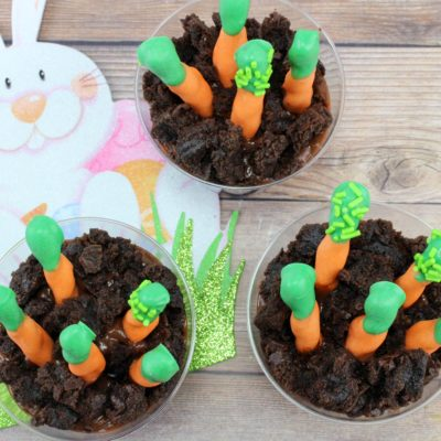 Easter Snack Ideas For Kids: Easy Carrot Patch Pudding Cups