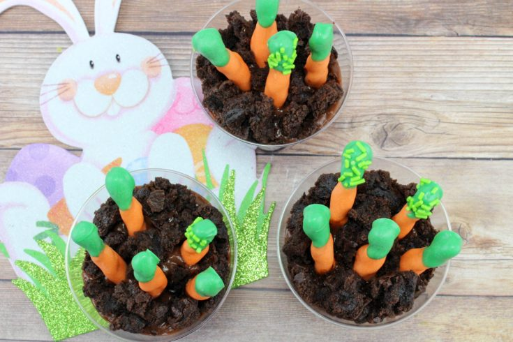 Easter Snack Ideas, Kids Easter Snack Ideas, Carrot Patch Pudding Cups, Easter Kid Snacks, Spring Kids Snacks