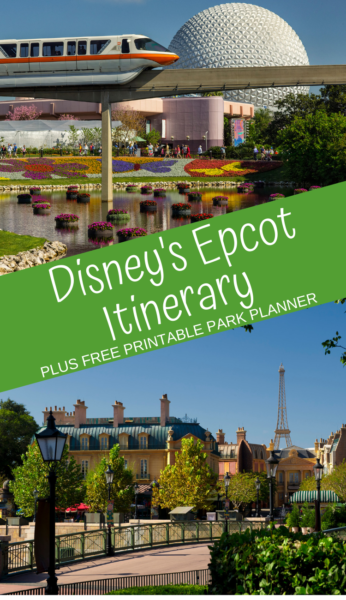 Epcot Itinerary: Use this guide to navigate your way through Disney's Epcot park. Plus, print a FREE park guide to help plan your day! #Epcot #DisneyWorld #DisneyTips #WaltDisneyWorld #DisneyVacationPlanning #EpcotTips