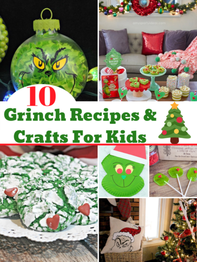 These are the EASY Grinch recipes & crafts that are perfect for the kids! Make them as a fun holiday treat and watch the movies. #TheGrinch #GrinchRecipes #GrinchCrafts #Grinch #Christmas #ChristmasCrafts #ChristmasRecipes