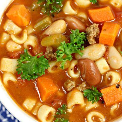 Minestrone Soup Recipe Crock Pot: One-Bowl Dinner Idea