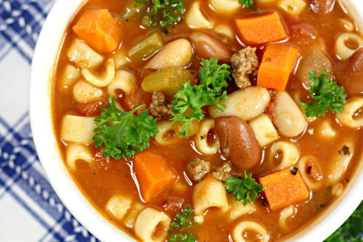 Minestrone Soup Recipe: Crock Pot One-Bowl Dinner Idea