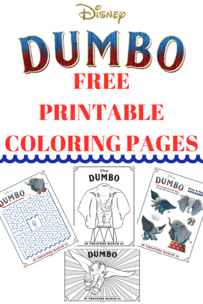 Free Dumbo Coloring Pages Activity Sheets Sneak Peek