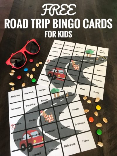 FREE Printable Travel Bingo Cards: If you're traveling with kids, print these road trip bingo cards! #RoadTripTips #FamiliyTravel #Travel #TravelingWithKids #Kids #Printable #Bingo #TravelBingo