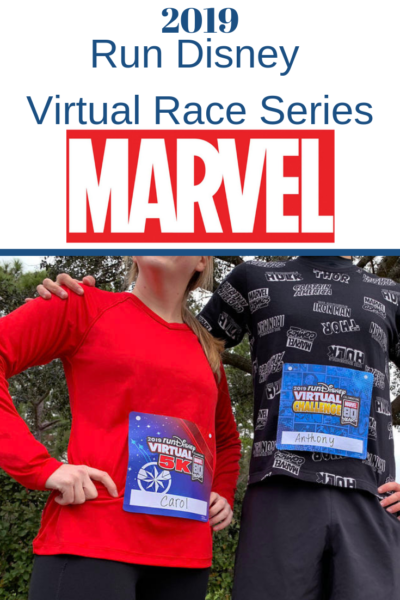 Want to Run Disney from home? Find out all the details about the Marvel themed 2019 Run Disney Virtual Race Series! Run or Walk! #RunDisney #Running #RunningTips #VirtualRunning