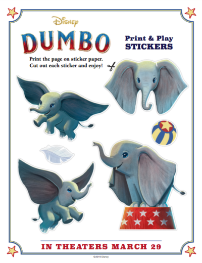 FREE Dumbo Coloring Pages & Activity Sheets, Dumbo Coloring Pages