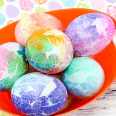 Creative Easter Egg Dying With Tissue Paper – Great For Kids!