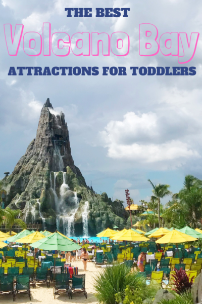Universal Orlando's Volcano Bay: The best tips for going to Volcano Bay waterpark with toddlers - rides they can do, diaper policies and food options. #VolcanoBay #UniversalOrlando #UniversalStudios #Waterpark #Orlando #FamilyTravel #Toddler #TravelingWithKids