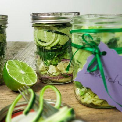 Avocado Garlic Mason Jar Salad Recipe For The Week
