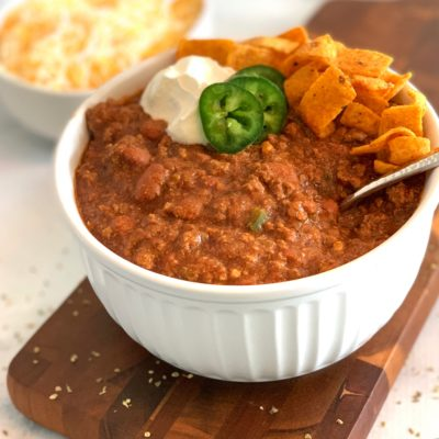 Award Winning Chili Recipe With Ground Beef & Pinto Beans