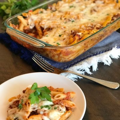 Easy Baked Ziti Casserole With Sweet Italian Sausage