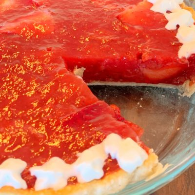 Old Fashioned Strawberry Pie With A Glaze Center