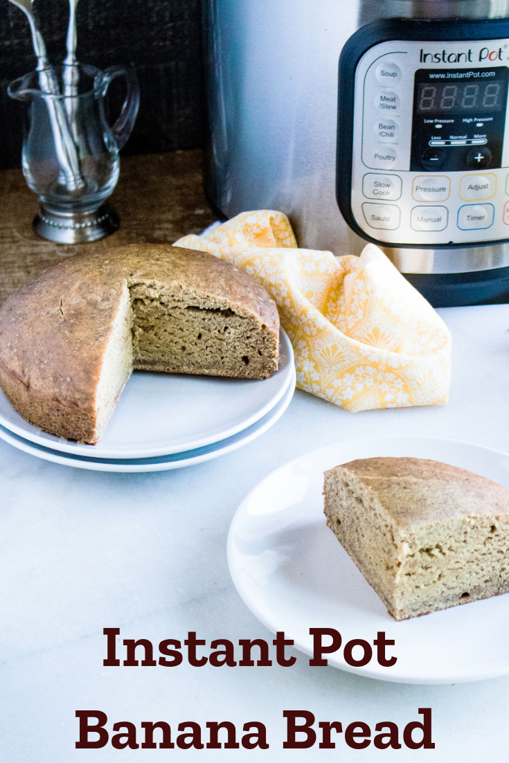 Instant Pot Banana Bread: Make this classic breakfast recipe with the ease of using an Instant Pot. It's delicious and you can mix in anything you want! #BananaBread #InstantPot #PressureCooker #InstantPotBreakfast #BreakfastRecipe #QuickBread
