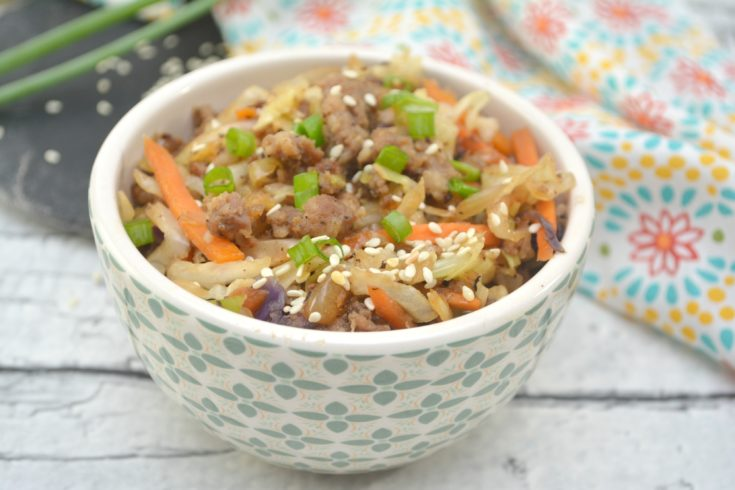 Keto Egg Roll In A Bowl: Quick Low Carb Asian Cuisine