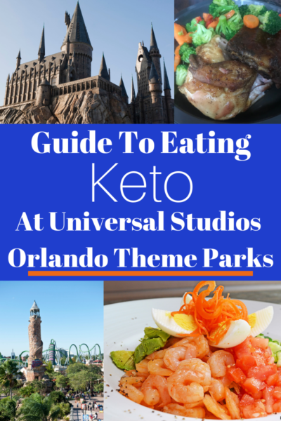 Guide To Eating Keto At Universal Orlando Theme Parks: How to maintain ketosis while vacationing at Universal Studios & Islands of Adventure! The best menu options to keep you on track. #KetoDiet #UniversalStudios #UniversalStudiosOrlando #IslandsofAdventure #Keto #Travel #TravelTips #Orlando