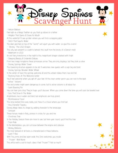Disney Springs Scavenger Hunt, Disney Springs Scavenger Hunt Game, Entertaining Kids at Disney Springs