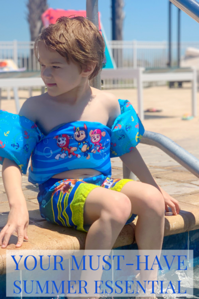 #AD Ready why the SwimWays Swim Trainer is my #1 choice as a summer essential that your family NEEDS to own! #SwimWays #FindYourPooltopia #PawPatrol
