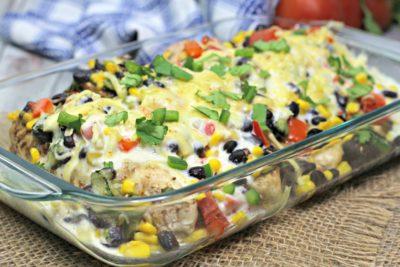 SouthWest Baked Chicken Dinner, Easy Chicken Dinner Idea, Baked Chicken Dinner Recipe, SouthWest Dinner Recipe, Easy Weeknight Dinner