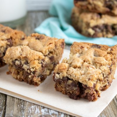 Decadent & Chewy Chocolate Chip Walnut Bars