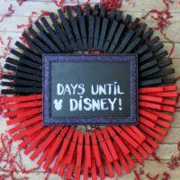 DIY Disney Countdown Wreath: Easy Dollar Store Craft