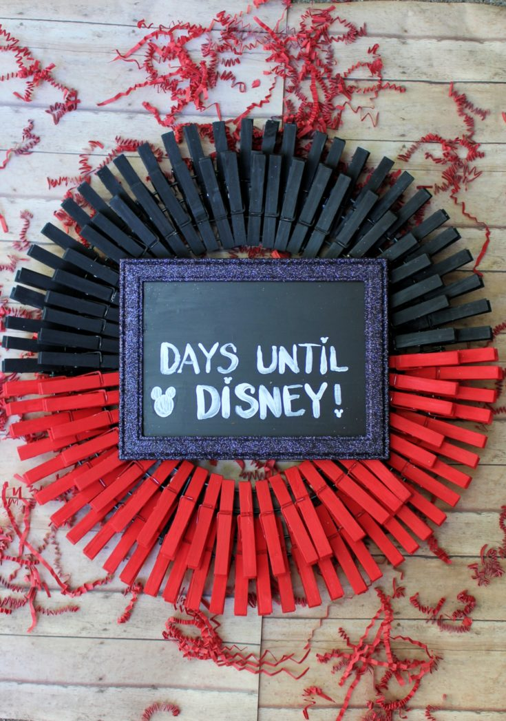 DIY Disney Countdown Wreath