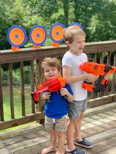 DIY Nerf Targets, How To Make Nerf Targets, Easy Nerf Targets, Nerf Party Ideas, Boy Party Ideas