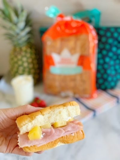 Creative School Lunch, King's Hawaiian Bread Recipes, King's Hawaiian Bread ideas, Easy School Lunch Ideas, Creative School Lunch Ideas