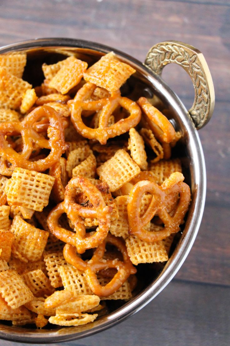 Easy Tailgating Snack: Baked Buffalo Chex Mix Recipe