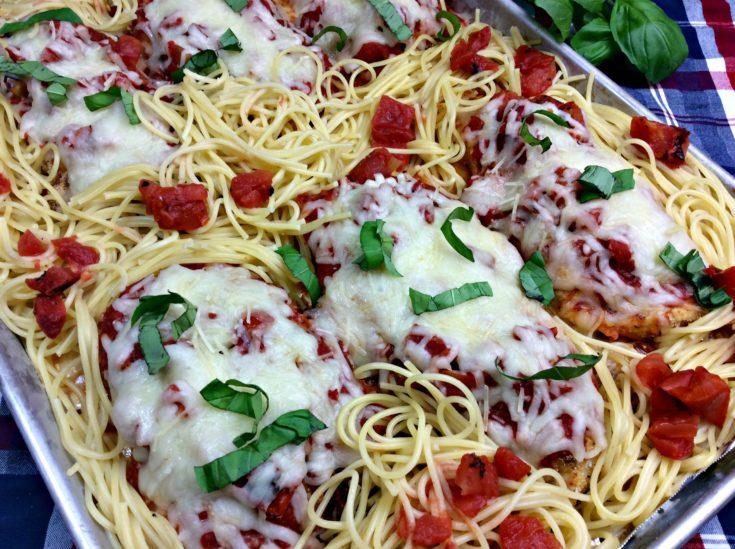 Sheet Pan Dinner, Chicken Parmesan, Easy Chicken Parmesan, Make-ahead Dinner Recipe