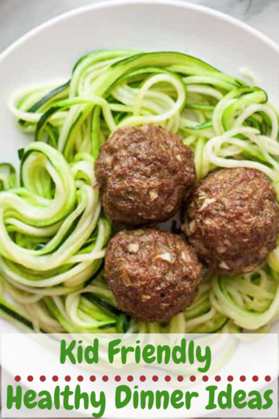 #AD Make kid-friendly dinners easy with this Creamy Zoodles and Meatballs recipe. Plus, other awesome products that are great for healthy kid's dinners. #BabbleBoxx #KidFriendlyBBoxx
