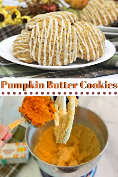 Break into fall baking with these delicious and easy Pumpkin Butter Cookies! #FallBaking #PumpkinCookies #EasyPumpkinCookies #PumpkinBaking